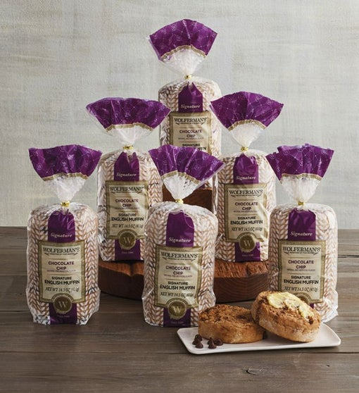 Chocolate Chip Signature English Muffins - 6 Packages