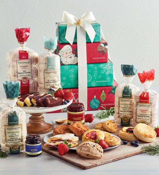 Grand Holiday Morning Gift Tower