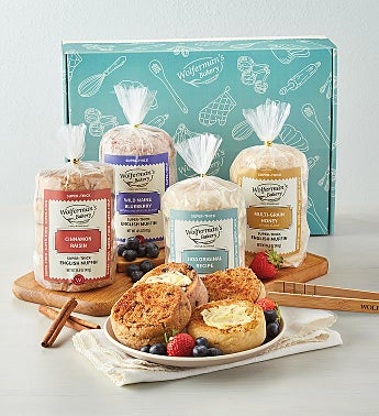 Mix & Match Super-Thick English Muffins Gift Box with Tongs - 4 Packages