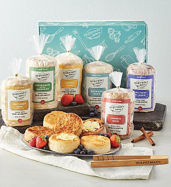 Mix & Match Super-Thick English Muffins Gift Box with Tongs - 6 Packages