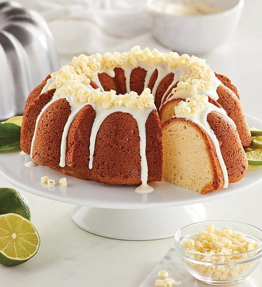 Lime and White Chocolate Bundt Cake