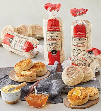 San Francisco-Style Sourdough Super-Thick English Muffins - 4 Packages