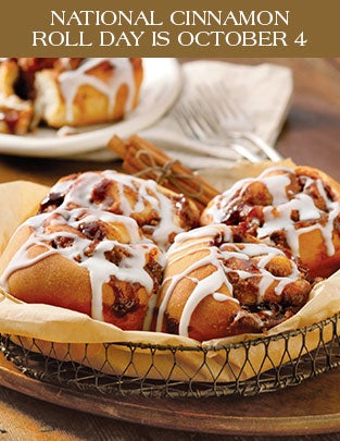 NATIONAL CINNAMON ROLL DAY IS OCTOBER 4
