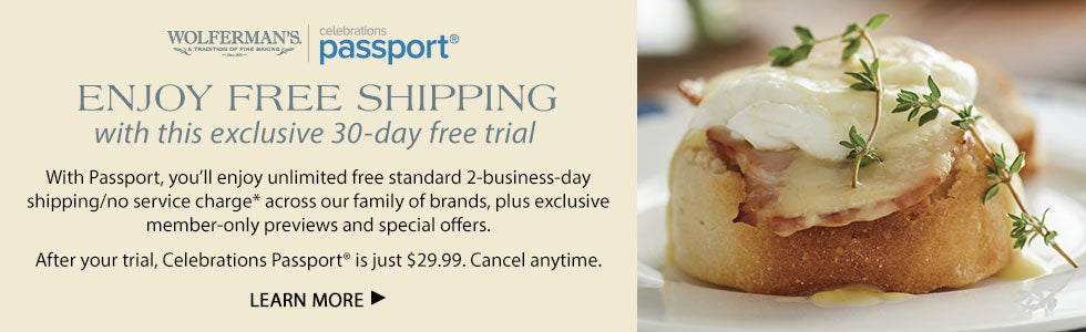 ENJOY FREE SHIPPING with this exclusive 30-day free trial. With Passport, you'll enjoy unlimited free standard 2-business-day shipping/no service charge across our family of brands, plus exclusive member-only previews and special offers. After your trial, Celebrations Passport® is just $29.99. Cancel anytime. LEARN MORE
